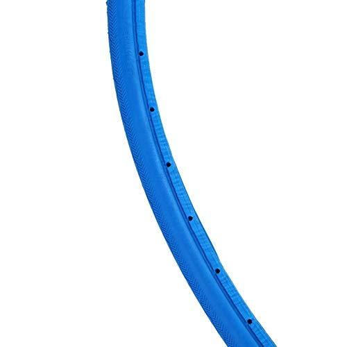 GLOGLOW 4 Colores de la Manera de los neumáticos de la Bici, Anti-Breaking Bicycle Cycling Tubless Riding Neumáticos de sólidos para 700 * 23C Road Bike Fixed Gear(Azul)