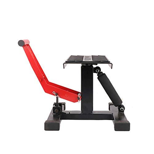 Soporte elevador de moto con plataforma de goma, carga máxima de 150 kg, Cross 33-40 cm, palanca para moto todoterreno
