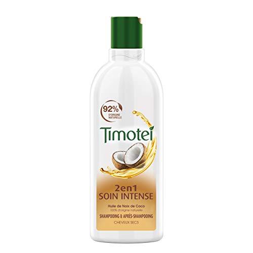 Timotei Shampoing Femme Pure Nutrition et Légèreté, Lait de Coco et Aloé Vera, Idéal pour les cheveux normaux et secs 300ml