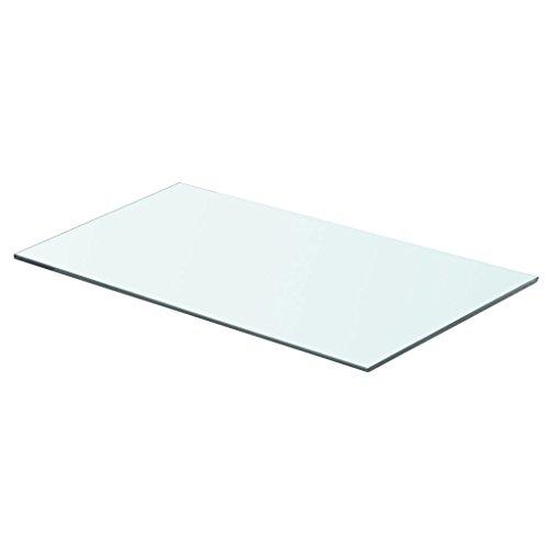 yorten Glas Regalboden Glasscheibe Glasplatte Einlegeboden Glasablage, Max. Tragfähigkeit 15 kg 8 mm Transparent (60 x 30 cm)