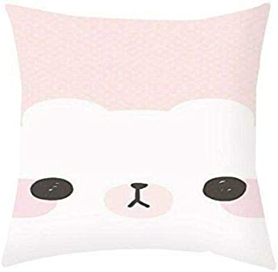 AILOVYO Face Pillow Case Waist Polyester Cover New for 1 Pcs Decorative Pillow 18 x 18Inch