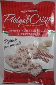 White Chocolate and Peppermint Pretzel Crisps Pack of 2 Small 4 oz bags