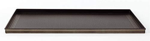 Agnelli Moules a Gâteaux rectangulaire perforé, Hauteur de 2 cm, Alliage d'aluminium 3003, Noir