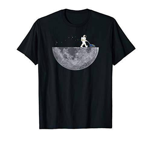 Astronaut Mit Rasenmäher - Mond Mondlandung Planet Lustig T-Shirt