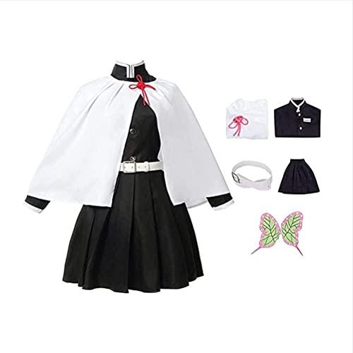 XYZLEO Demon Slayer Tsuyuri Kanao Cosplay Kimono Costume Uomo Donna Top Pantaloncini Set Completo per Halloween Outfits