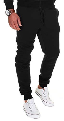 MERISH Pantalones de chándal para hombre de algodón, corte ajustado, 283 283 Negro S