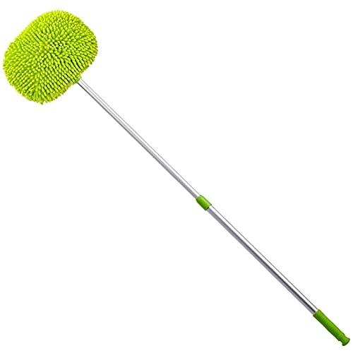 Vpsppb - Kit de fregona para cepillo de lavado de coche de microfibra, guante de esponja con mango largo, accesorios para herramientas de coche para lavado de, almacenes, oficinas, cubiertas.