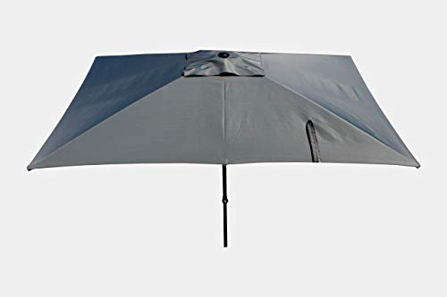 Maffei Art 138r Kronos Parasol rectangulaire cm 200x300, Tissu Polyester. Made in Italy. Couleur Gris
