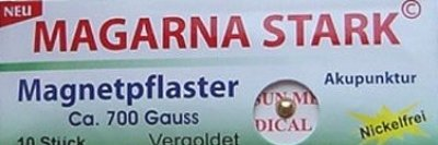 MAGARNA STARK Magnetpflaster 700 Gauss, vergoldet & nickelfrei, 10 Stück/Packung