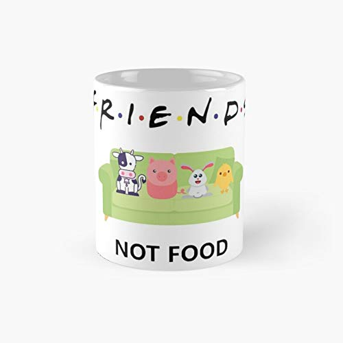 Friends Not Food Classic Mug - 11 Ounce For Coffee, Tea, Chocolate Or Latte.