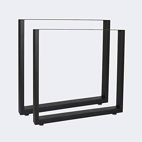 Bastidores para mesa 70x72 cm Recubrimiento polvo negro Caballetes para tablero Patas de mesa Bricol