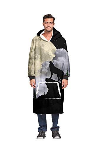 JDLAX 3D Digital Printing Faule TV Hoodie Rohbaumwolle Sweatshirt Decke Unisex Lange Hoodie für Erwachsene Männer Frauen Teens 011