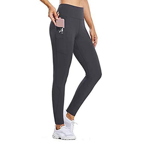 Gefütterte Jogginghose Damen Kuschelhose Damen Flauschig Schlafanzug Hosen Damen Umstandshose Hosen Für Jungen Fahrradhose (A-Grau,L)