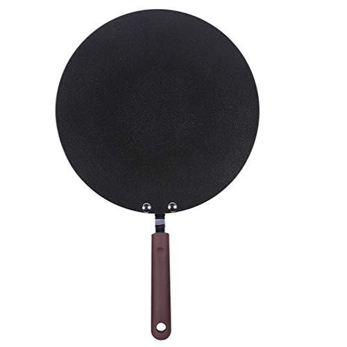 YARNOW Crepe Pan Antiadherente Sartén Redondo Omelet Hamburguesa Pancake Pan para El Desayuno Home Cooking