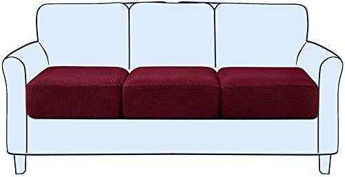 BANNAB Reemplazo de Funda de cojín de sofá elástico, Protector de Muebles de Funda de Asiento de Silla de sofá Ajustada, Tela de Jacquard de Spandex de Cuadros (Azul, 1 Pieza)