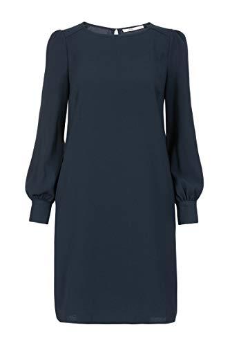 Steps Damen Kleid Gloria - Von Crêpe Mit Rundhalsausschnitt - über Dem Knie - Gerade Passform - Größe 34 Bis 46 Marineblau, 042