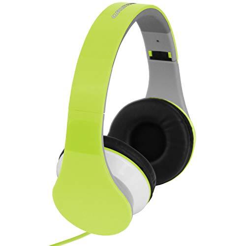 Stereohoofdtelefoon, 20Hz-20.000Hz, verstelbare hoofdband, opvouwbaar, stereohoofdtelefoon groen voor MP3 CD iPOD-spelers