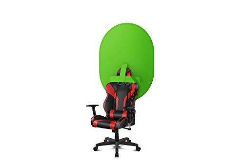 Chroma Verde Ozone Chroma X30 - Diseñado para Streaming - Chroma Key para acoplarlo a tu silla gaming - 100x130cm, Incluye Bolsa