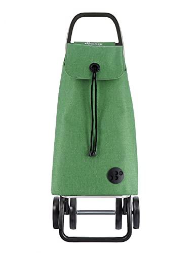 Rolser Carro I-MAX Tweed 4 Ruedas Plegable - Verde