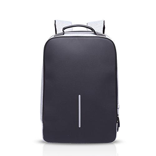 FANDARE Antifurto Zaino della Scuola Notebook Portatile Laptop 15.6 Pollici Schoolbag Viaggio Borsa USB Port Polyester