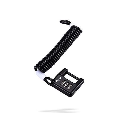 BBB 2905455201 Cable antirrobo Bicicleta, Unisex, Negro, 120 cm