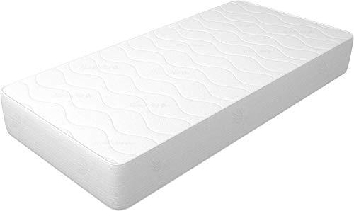 Materasso 80x200 cm Singolo altezza 14 cm, in WaterFoam, tessuto AloeVera, indeformabile, anallergico ed antiacaro, rigidità media. Modello: Plus H14