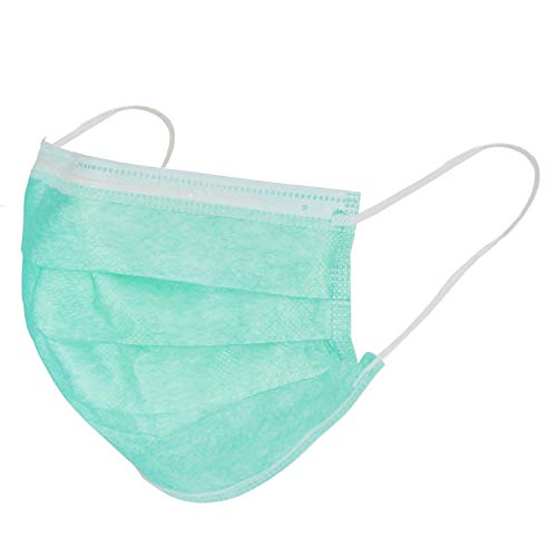 eXtreme 50 Stück Einweg-Masken, 3-lagig, atmungsaktiv, medizinisch, Unisex, Hygienemaske, Einweg-Ohrschlaufen, Mundschutz, Gesichtsschutzmasken, Einheitsgröße, Grün