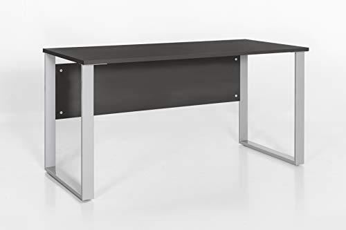 Möbelpartner Schreibtisch Lola 701423 anthrazit, 140,0 x 65,0 x 73,2 cm