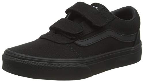 Vans Ward V-Velcro Canvas, Sneaker Unisex niños, Negro Lona Negro Negro 186, 31