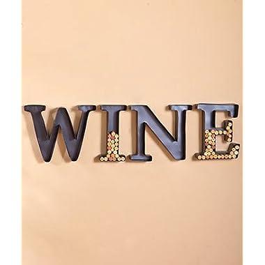 Monogram Wine Cork Holder Set of 4 Letters W I N E