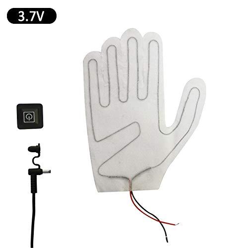 bouncevi 2-teilige Handschuhheizungen, einstellbare Heizstufe PTC 3 aus Verbundfaser, elektrisches Heizkissen für Winterreiten und Sport (mit Handschuhen verwendet)