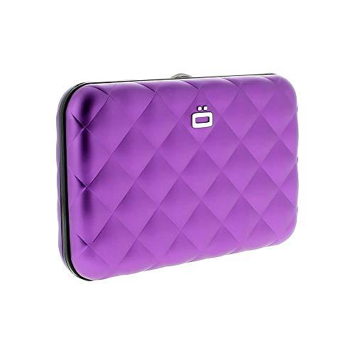 Women's Ogon Designs Purple Quilted Button RFID Blocking Credit Card Wallet