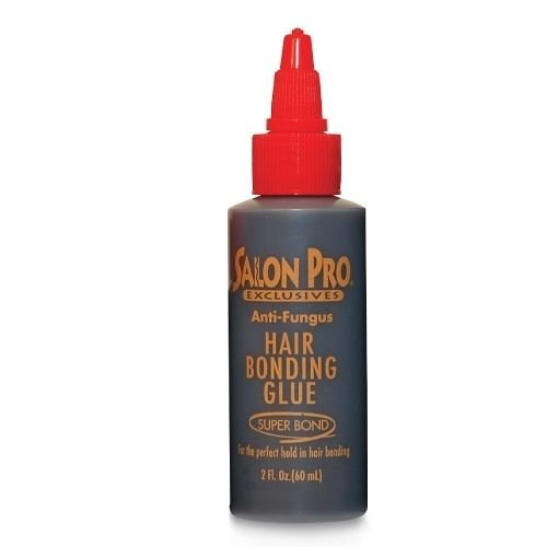 Salon Pro Hair Bonding Glue 2oz Black. Ideal for hair bonding