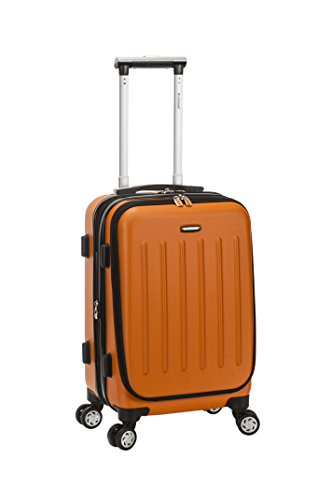 Rockland Titan Hardside Carry-On Spinner Luggage, Orange, 19-Inch