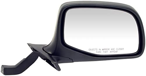 Dorman 955 228 Passenger Side Manual Door Mirror for Select Ford Models Black and Chrome product image