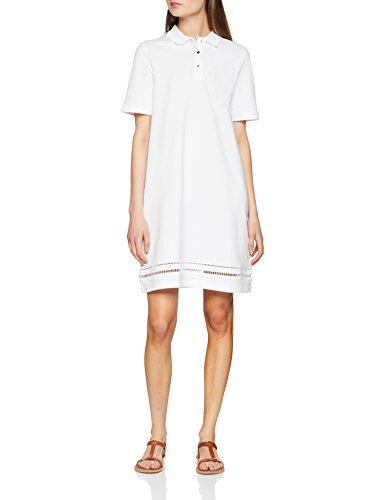 Tommy Hilfiger Daphne Polo Dress SS Vestido, Blanco (Classic White 100), 40 (Talla del Fabricante: 38 M) para Mujer