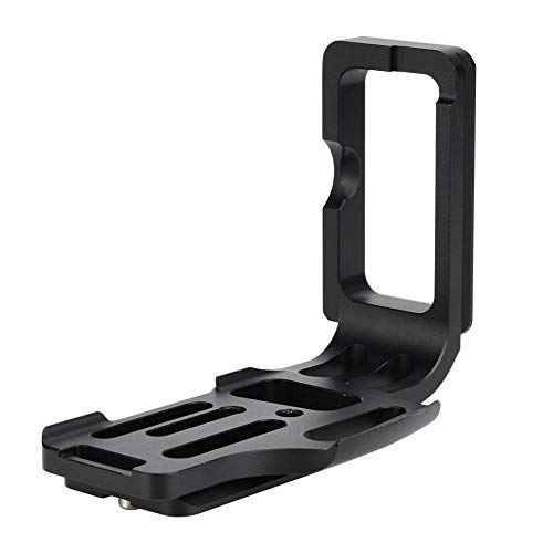 Manija de placa de liberación rápida de cámara para Nikon D800 D810 D800E, soporte de agarre de mano con montaje en L de metal QR con tornillo de 1/4 pulgadas para rieles de plataformas de trípodes, e