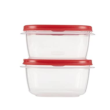 Rubbermaid Easy Find Lids Food Storage Containers, 5 Cup, Racer Red, 4-Piece Set 1777179
