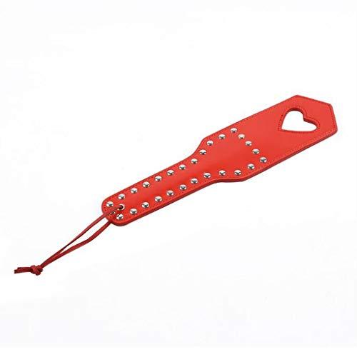 ODDO Naranja Nalgadas juega for las mujeres Amor diseño hueco con correa de cuero suave y cómodo Yoga Mat,Toys-tory (Color : Red)