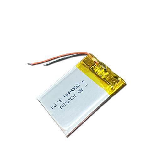 ahjs457 3,7 V Lipo Celdas 302530 200 mah batería Recargable de polímero de Litio para MP3 MP4 MP5 GPS Reloj Inteligente Auricular Bluetooth Altavoz de Juguete