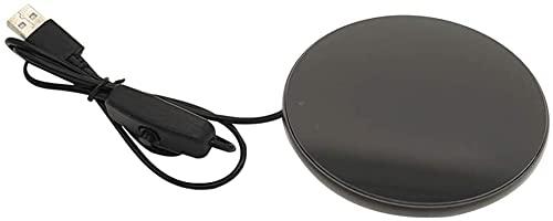 RosieLily Usb Cup Mok Warmer Met Indicatielampje En Schakelaar, Usb-beker Voor Kantoor, Verwarming Coaster Voor Koffiekopje(Color:Zwart)