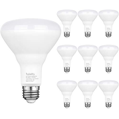 Hykolity 10 Pack Flood Light Bulb, BR30 LED Bulb for Indoor/Outdoor Downlight Recessed Can Light, Dimmable, 11W=75W, 5000K Daylight, 850lm, E26 Base, UL Listed
