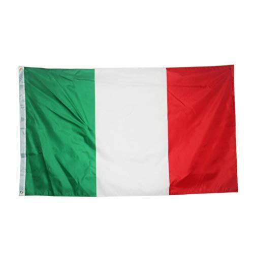 Angoter 1PC Gran Bandera Gran Bandera De Italia Italia Bandera Nacional Impreso Banner Poliéster con Ojales De Cobre Amarillo 35.4x59 Pulgadas