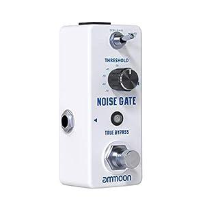 ammoon Alimentazione Elettrica per Pedali Effetto Chitarra con 8 Uscite DC Isolate Dimensioni Compatte per Pedali Effetto Chitarra 9V/18V – Noise Gate
