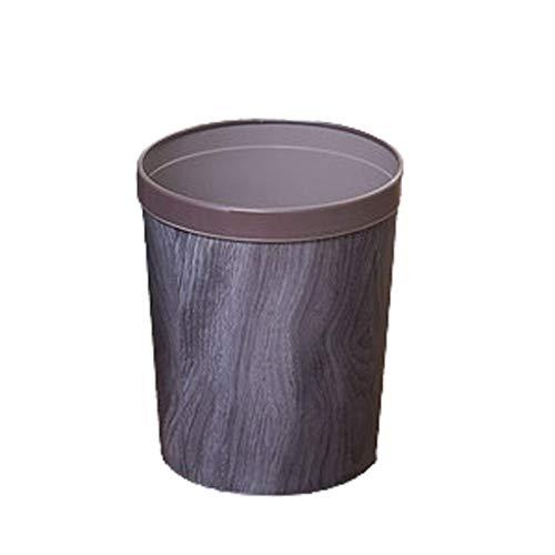1yess Mülltonnen Vintage Mülleimer, Mülleimer mit Druckring abnehmbar, für Schlafzimmer, Zimmer, Küche, Büro Mülleimer Kann Abfallbehälter (Farbe: d) (Color : A)