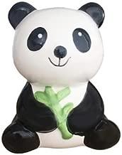 BESTRADA USA Cute! Ceramic Panda Bear Coin Saving Bank with Bamboo (H4.7 x W3.5 x D2.7)