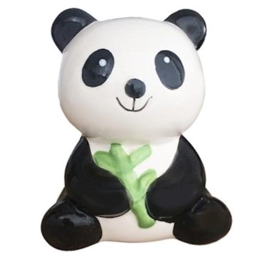 伝染性の隔離する男やもめキュート。セラミックPanda Bearコイン保存銀行with竹( h4.7?