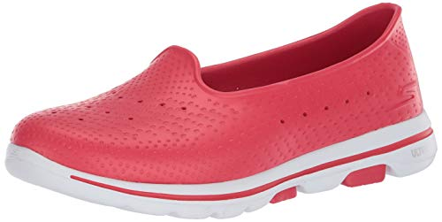 Skechers Go Walk 5 Sun Kissed, Sandalo Sportivo Donna, Red, 39 EU