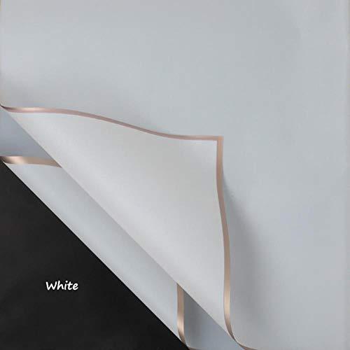 5 stks/pak effen kleur waterdichte mist papier bloem cadeaupapier bloemisten levert diy plakboek ambachtelijke papier, wit