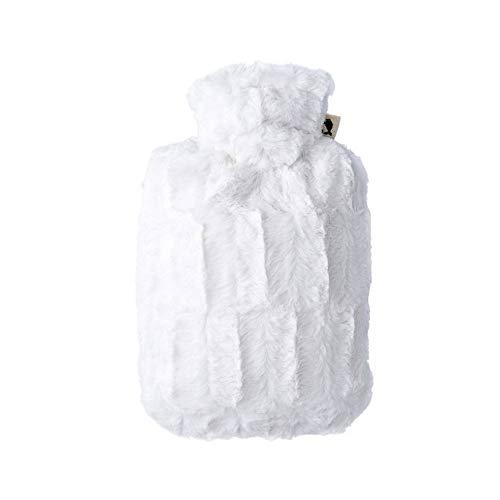 Hugo Frosch Wärmflasche Klassik 1,8 Ltr. mit Microfaserbezug in Tierfelloptik weiß, 330 g